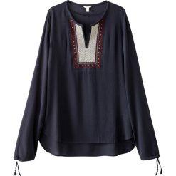 Bluzki asymetryczne: Bluzka z długim rękawem, wyszywana