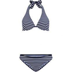 Bikini na fiszbinach (2 części) bonprix niebiesko-biały w paski. Niebieskie bikini bonprix, w paski. Za 74,99 zł.
