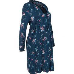 Sukienka ciążowa i do karmienia bonprix ciemnoniebieski w kwiaty. Niebieskie sukienki ciążowe marki bonprix, w kwiaty, moda ciążowa. Za 149,99 zł.