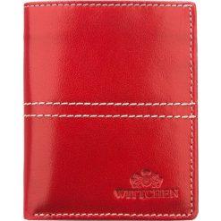 Portfel 14-1-124-3. Czerwone portfele męskie marki Wittchen. Za 108,00 zł.
