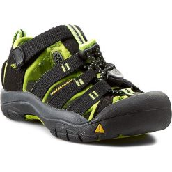 Sandały KEEN - Newport H2 1009942 Black/Lime Green. Czarne sandały chłopięce Keen, z gumy. W wyprzedaży za 179,00 zł.