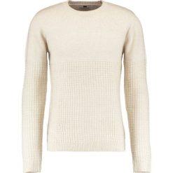 Swetry klasyczne męskie: Topman GRID CREW Sweter stone