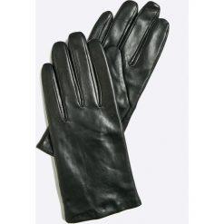 Vero Moda - Rękawiczki skórzane. Czerwone rękawiczki damskie Vero Moda, z materiału. W wyprzedaży za 119,90 zł.