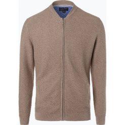 Swetry rozpinane męskie: Nils Sundström – Kardigan męski, brązowy