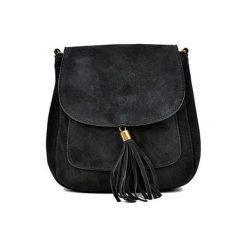 Torebka w kolorze czarnym - (S)20,5 x (W)20,5 x (G)6 cm. Czarne torebki klasyczne damskie Bestsellers bags, w paski, z materiału. W wyprzedaży za 149,95 zł.