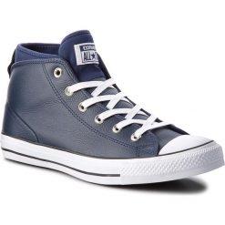 Trampki CONVERSE - Ctas Syde Street Mid 157539C Midnight Navy/Midnight Navy. Niebieskie trampki męskie Converse, z gumy. W wyprzedaży za 269,00 zł.