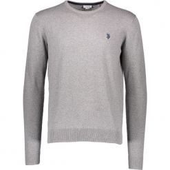 Sweter w kolorze szarym. Niebieskie swetry klasyczne męskie marki GALVANNI, l, z okrągłym kołnierzem. W wyprzedaży za 195,95 zł.