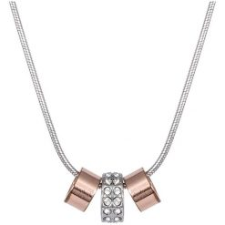 Naszyjniki damskie: Pozłacany naszyjnik z kryształami Swarovski – (D)20,5 cm