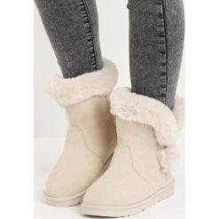 Beżowe Śniegowce Nit-Pick. Brązowe buty zimowe damskie Born2be. Za 69,99 zł.