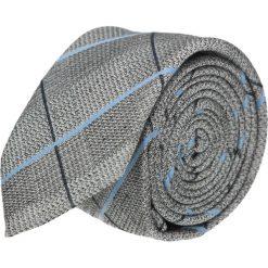 Krawaty męskie: krawat cotton szary classic 200