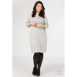 Sukienki hiszpanki: Sukienka z tłoczonym wzorem Plus