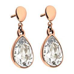 """Biżuteria i zegarki: Pozłacane kolczyki-wkrętki """"Amy"""" z kryształami Swarovski"""