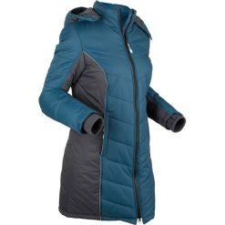 Płaszcz funkcyjny pikowany bonprix niebieskozielono-szary. Niebieskie płaszcze damskie bonprix, s. Za 219,99 zł.