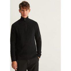 Sweter z półgolfem - Czarny. Szare swetry klasyczne męskie marki bonprix, l, melanż. Za 139,99 zł.