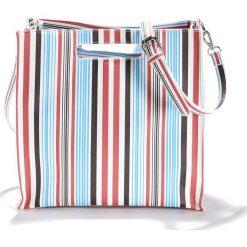 Torba w paski. Szare torebki klasyczne damskie La Redoute Collections, w paski, z materiału. Za 126,38 zł.