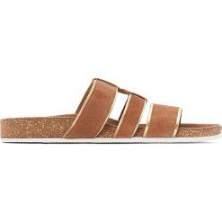 Chodaki damskie: Skórzane klapki z licznymi paseczkami, odpowiednie na szeroką stopę 38-45