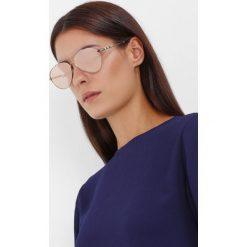 Burberry Okulary przeciwsłoneczne gold/brown mirror rose gold. Czarne okulary przeciwsłoneczne damskie lenonki marki Burberry. Za 839,00 zł.