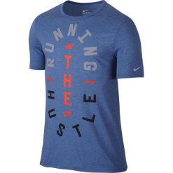 Koszulka do biegania męska NIKE RUN HUSTLE TEE / 776634-456. Szare koszulki sportowe męskie Nike, m, do biegania. Za 79,00 zł.