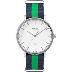 Zegarek Timex Damski TW2P90800 Weekender Fairfield 41 granatowo-zielony. Niebieskie zegarki damskie Timex. Za 189,00 zł.