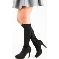SEKSOWNE KOZAKI DAMSKIE. Czarne buty zimowe damskie SMALL SWAN. Za 114,00 zł.