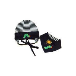 Ebi & Ebi  Czapka z chustką marine - niebieski. Niebieskie czapeczki niemowlęce marki Ebi & Ebi, z bawełny, z długim rękawem. Za 69,00 zł.