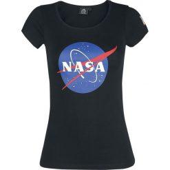NASA NASA Circle Logo Koszulka damska czarny. Czarne bluzki asymetryczne NASA, s, z nadrukiem, z okrągłym kołnierzem. Za 74,90 zł.