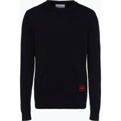 Calvin Klein - Sweter męski, niebieski. Pomarańczowe swetry klasyczne męskie marki Calvin Klein, l, z bawełny, z okrągłym kołnierzem. Za 449,95 zł.