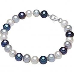 Bransoletka perłowa w kolorze biało-srebrno-niebieskim. Białe bransoletki damskie marki Pearls Special, srebrne. W wyprzedaży za 113,95 zł.