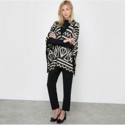 Żakardowy sweter. Szare kardigany damskie Molly Bracken, w geometryczne wzory, z poliamidu. Za 132,26 zł.