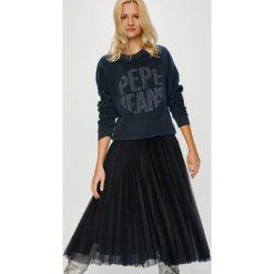 Pepe Jeans - Bluza Cameron. Czarne bluzy rozpinane damskie Pepe Jeans, l, z aplikacjami, z bawełny, bez kaptura. W wyprzedaży za 219,90 zł.