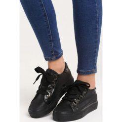 Czarne Buty Sportowe City of Angels. Czarne buty sportowe damskie marki Born2be, z aplikacjami, z materiału. Za 79,99 zł.