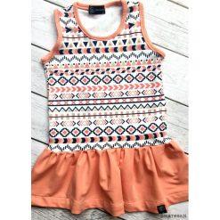 Letnia sukienka w azteckie wzory. Szare sukienki dziewczęce dzianinowe Pakamera, na lato. Za 99,00 zł.