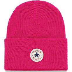 Czapka CONVERSE - 609744  Pink Pop. Czerwone czapki zimowe damskie marki Converse, z materiału. Za 89,00 zł.