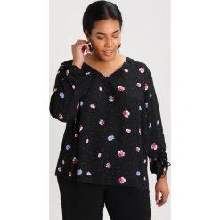 Bluzki asymetryczne: Dorothy Perkins Curve V NECK GATHERED  Bluzka ditsy black