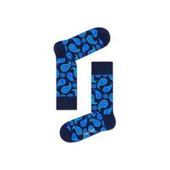 Skarpetki Happy Socks  PAI01-6003. Niebieskie skarpetki męskie marki Happy Socks, z bawełny. Za 24,43 zł.