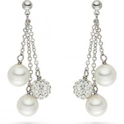 Kolczyki-wkrętki z perłami i cyrkoniami. Białe kolczyki damskie marki Pearls Special, z cyrkonią, z mosiądzu. W wyprzedaży za 90,95 zł.