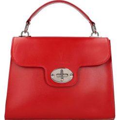 """Torebki klasyczne damskie: Skórzana torebka """"Sablon"""" w kolorze czerwonym – 30 x 24 x 10 cm"""