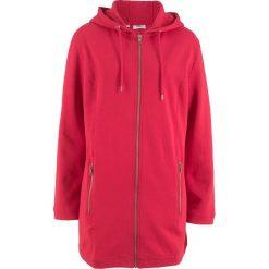 Długa bluza rozpinana bonprix czerwony. Czerwone bluzy rozpinane damskie bonprix, z długim rękawem, długie. Za 109,99 zł.