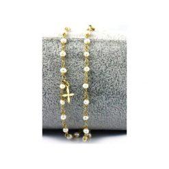 Bransoletka Perły Double złoto. Brązowe bransoletki damskie na nogę Brazi druse jewelry, srebrne. Za 170,00 zł.