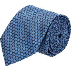 Krawat platinum niebieski classic 245. Niebieskie krawaty męskie Recman. Za 49,00 zł.