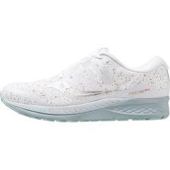 Saucony RIDE ISO Obuwie do biegania treningowe white. Białe buty do biegania damskie Saucony, z gumy. Za 589,00 zł.