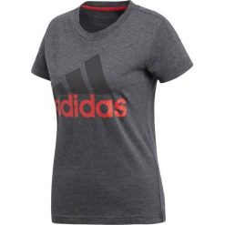 Adidas Koszulka W ESS LI SLI Tee CF8819 szara r. M. Szare topy sportowe damskie marki Adidas, l, z dresówki, na jogę i pilates. Za 69,13 zł.