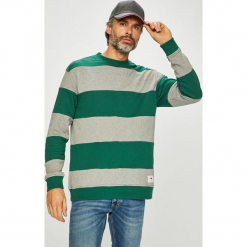 Tommy Jeans - Bluza. Szare bluzy męskie rozpinane marki Tommy Jeans, l, z bawełny, bez kaptura. Za 399,90 zł.