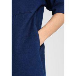 Sukienki hiszpanki: Whistles LEA POCKET LINEN MIX DRESS Sukienka jeansowa dark blue