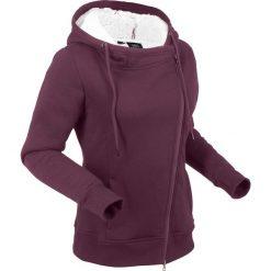 Bluza rozpinana z polaru baranka, długi rękaw bonprix czarny bez. Fioletowe bluzy polarowe bonprix, z długim rękawem, długie. Za 149,99 zł.