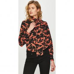 Only - Bluzka Caysa. Szare bluzki nietoperze marki ONLY, s, z bawełny, z okrągłym kołnierzem. Za 149,90 zł.