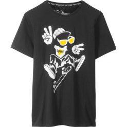Odzież chłopięca: T-shirt bonprix czarny z nadrukiem