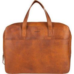 Skórzana torebka w kolorze brązowym na laptop - 37 x 30 x 6 cm. Brązowe torby na laptopa marki Bloomsbury, w paski, ze skóry. W wyprzedaży za 337,95 zł.