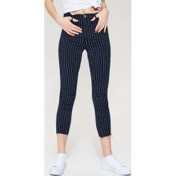 Jeansy ankle skinny - Granatowy. Niebieskie jeansy damskie marki House. W wyprzedaży za 59,99 zł.