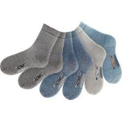 Skarpety Arizona (6 par) bonprix ciemnoszary + antracytowy + szary + niebieski dżins + jasnoniebieski. Szare skarpetki męskie bonprix. Za 53,94 zł.